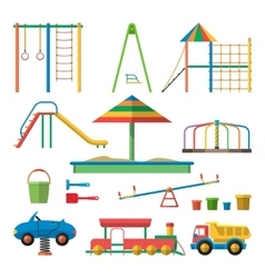 Kids playground with isolated vector