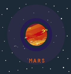 MARS space view vector image