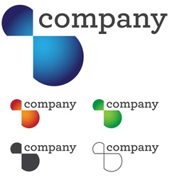 modern business logo vector image