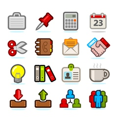 Office icon set vector image vector image
