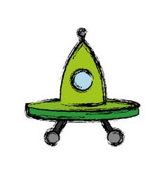 Ovni spaceship icon vector