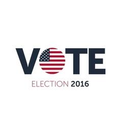 Patriotic 2016 voting poster Presidential vector image