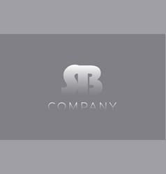 Sb s b pastel blue letter combination logo icon vector