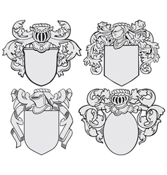 set of aristocratic emblems No5 vector image