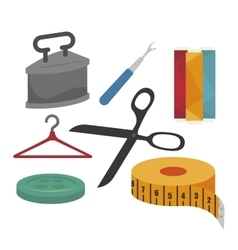 sewing kit isolated icon design vector image vector image