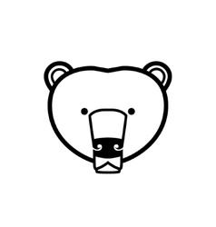 Stylized bear face vector