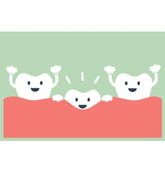 teeth grow vector image
