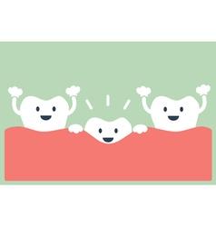 Teeth grow vector