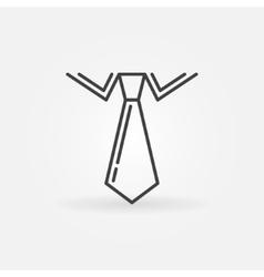 Tie linear icon vector