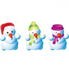 traditional snowman vector image vector image