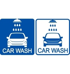 two car wash icons vector image