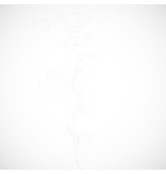 white smoke on a gray background vector image