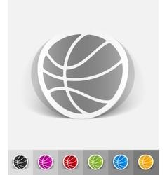 realistic design element basketball vector image