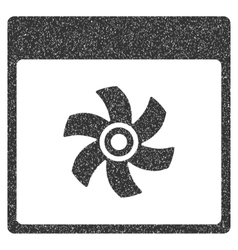 Fan calendar page grainy texture icon vector