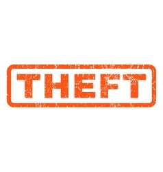 Theft rubber stamp vector