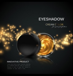 Beauty eye shadows or cheek blush ad vector