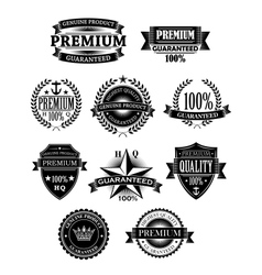 Banners and badges for guarantee design vector