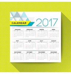 2017 calendar template vector image vector image
