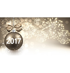 2017 new year background with fireworks vector