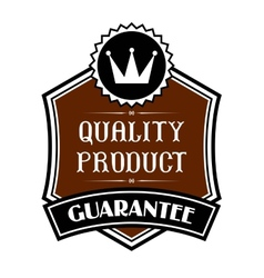 Quality product label vector