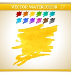 Warm sunshine yellow watercolor artistic splash vector