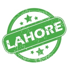 Lahore green stamp vector