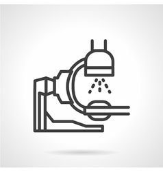 X-ray equipment icon line style vector