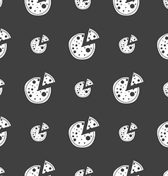 Map pointer setting icon sign seamless pattern on vector