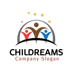 Child dreams design vector