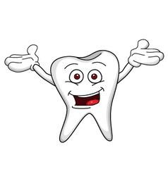 tooth cartoon vector image