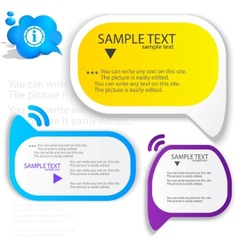 Colorful speech frame for text vector