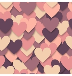 Colorful hearts seamless pattern vector