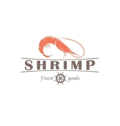 Shrimp emblem vector