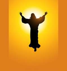 ascension of jesus christ vector image