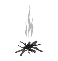 Bonfires isolated vector image vector image