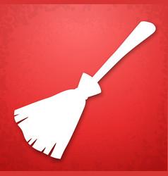 Broom applique background vector