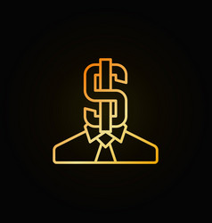 Business man with dollar icon vector