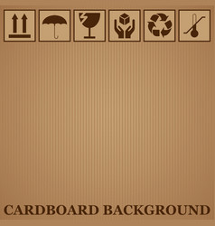 cardboard background vector image vector image