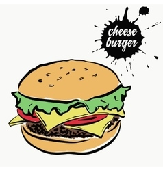 Cheeseburger fast food vector