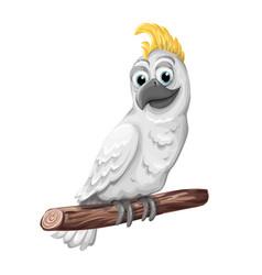 cockatoo alba bird parrot character symbol of vector image
