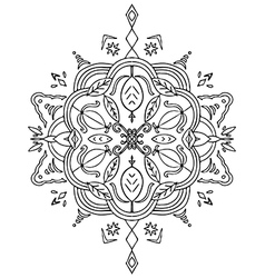 Coloring Leaves Mandala vector image