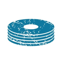 Disc pile grunge icon vector image vector image