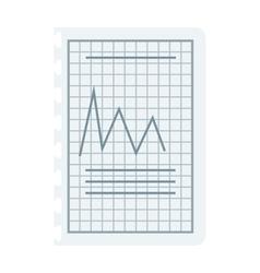 Graph sketch vector image vector image