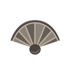 hand fan flat icon air art asian china design vector image