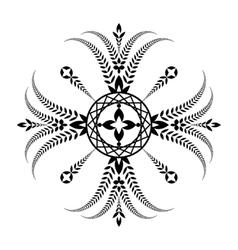 Laurel wreath tattoo unusual cross sign ornament vector