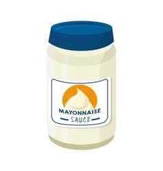 Mayonnaise sauce food vector