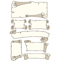 old style paper banners vector image vector image
