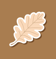 Paper sticker on stylish background of oak leaf vector