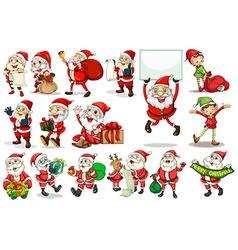 Santa actions vector