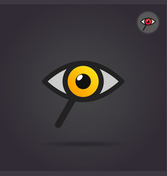 Search icon with eye and magnifier vector